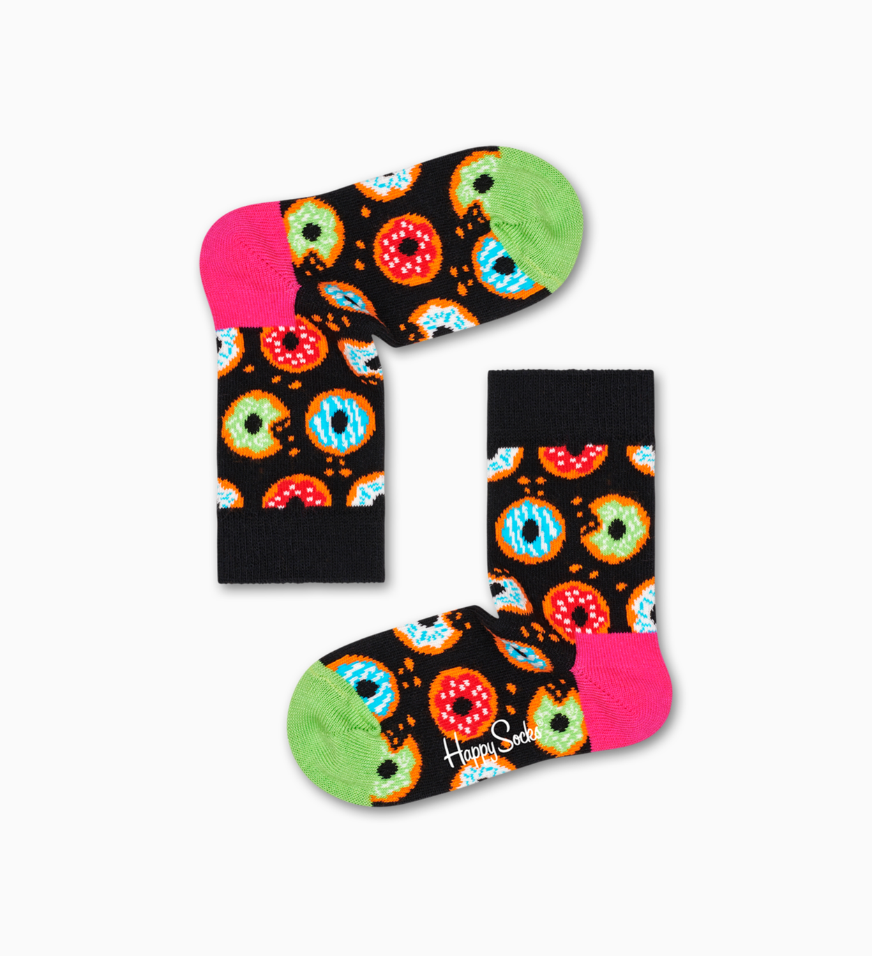 Kinder- & Babysocken: Donut, Schwarz | Happy Socks
