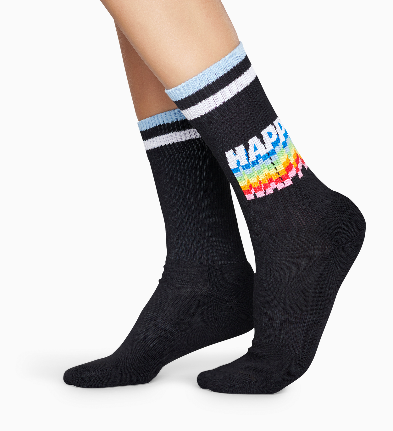 Sorte sportssokker: Happy - ATHLETIC | Happy Socks