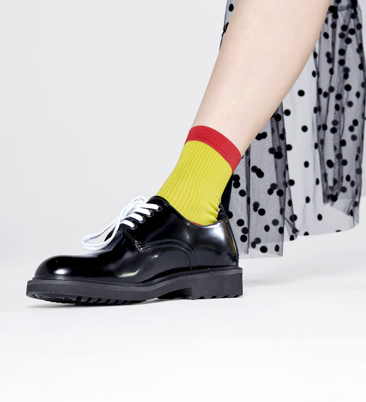 Lily Ankle Socks, Yellow  - Hysteria | Happy Socks