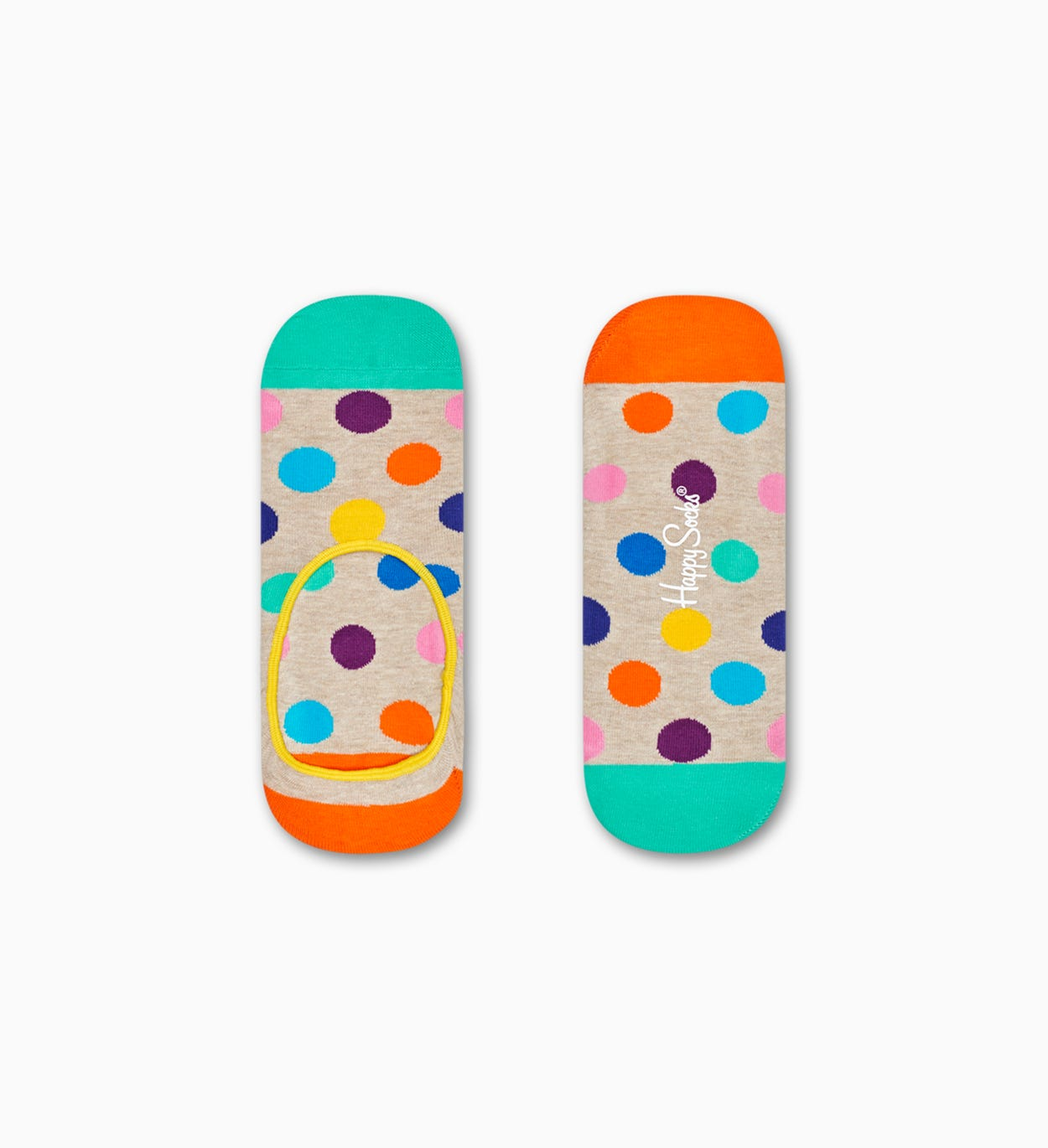 Beiga liner-strumpor: Big Dot mönster | Happy Socks