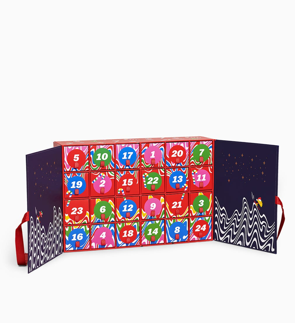 Advent Calendar Gift Box 24pc | Happy Socks
