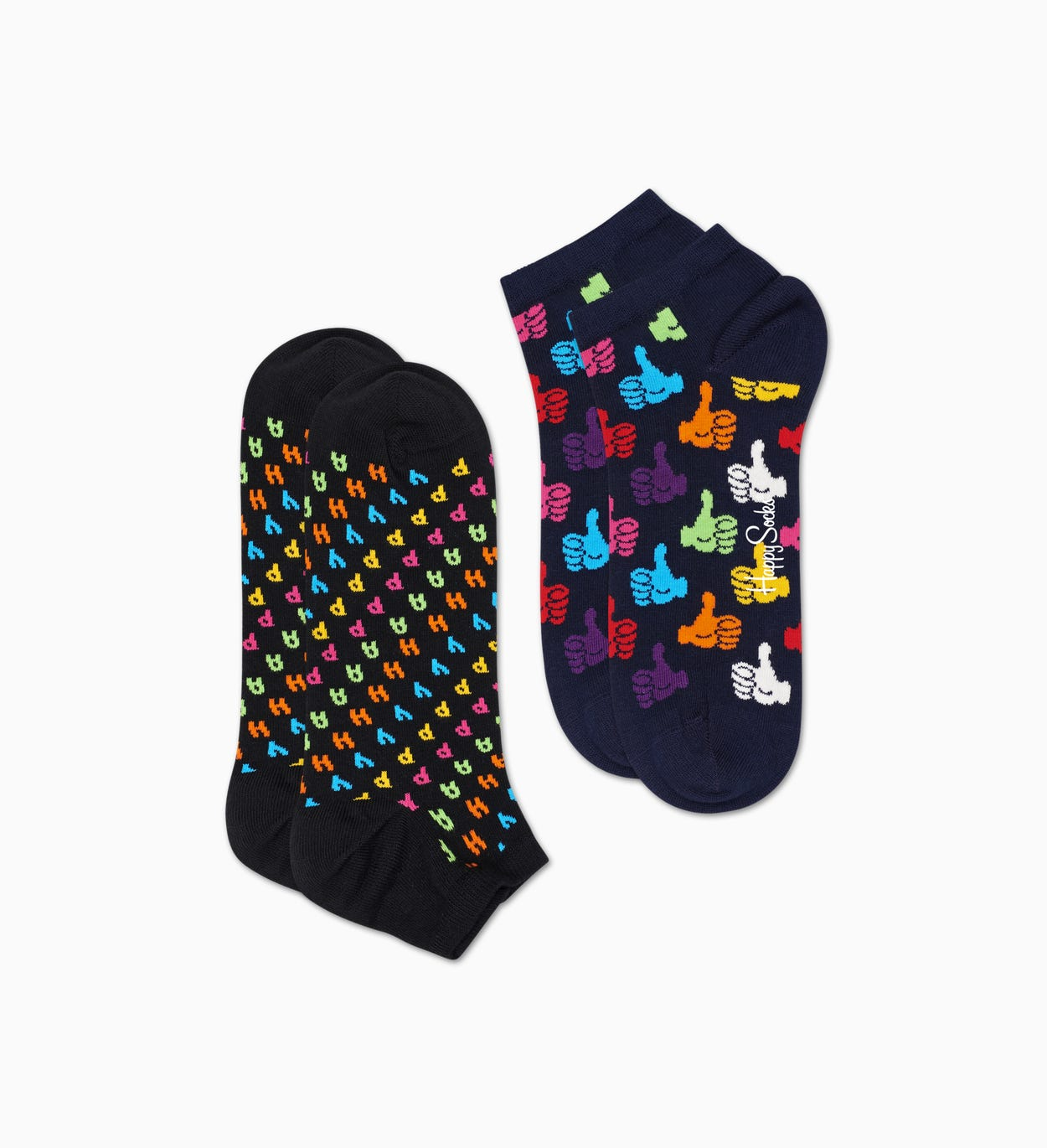 Schwarze Low Socken 2er-Pack: Happy | Happy Socks