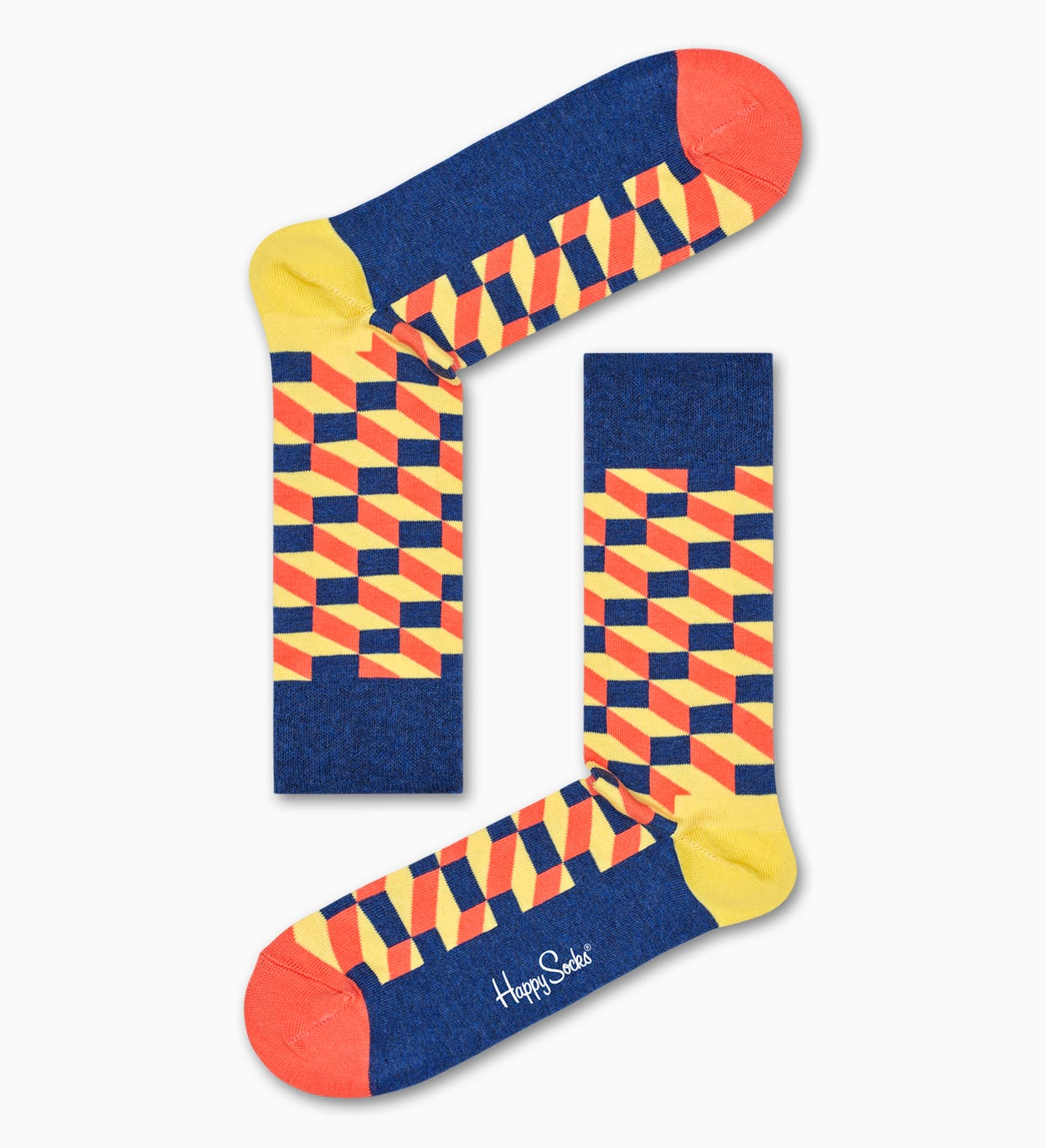 Filled Optic Socks, Yellow | Happy Socks