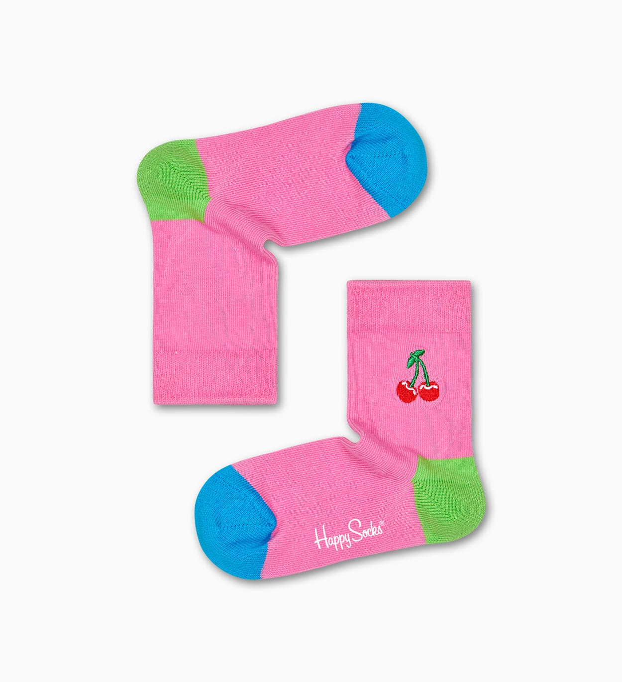 Kids Cherry Embroidery Sock