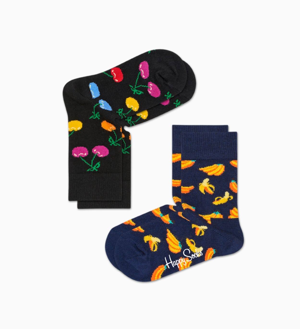 Black   Blue baby socks: Cherry - 2pc | Happy Socks