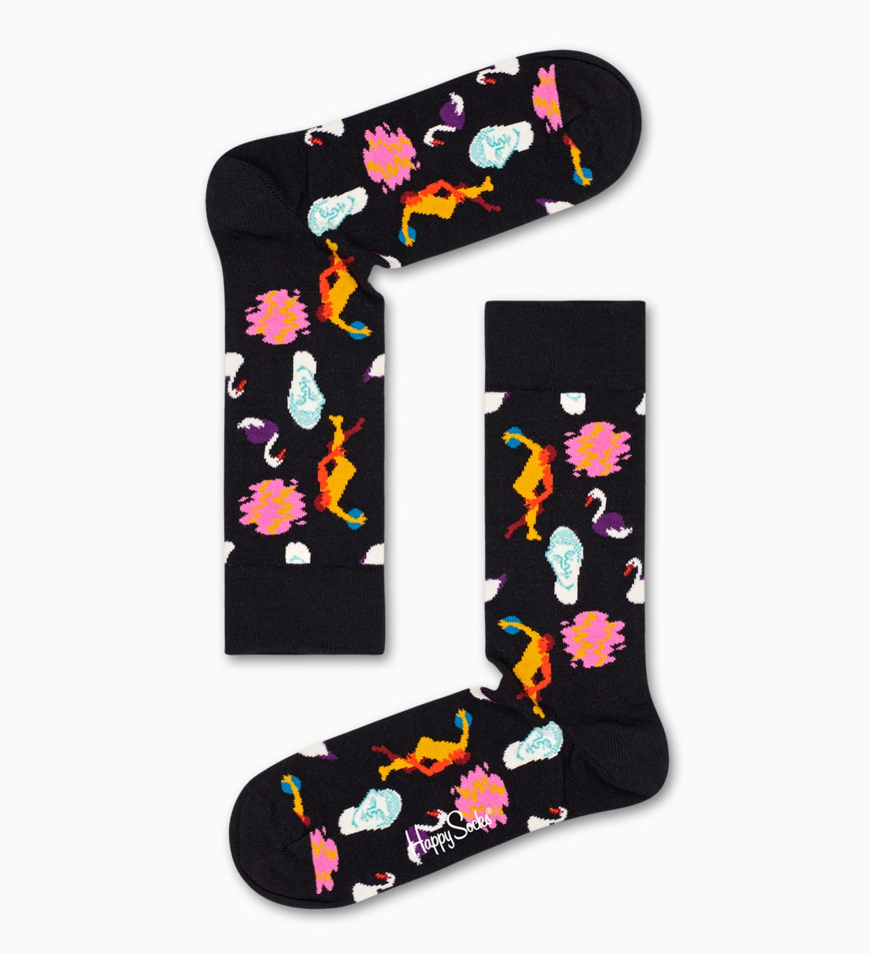 Patterned Black Socks: Park | Happy Socks