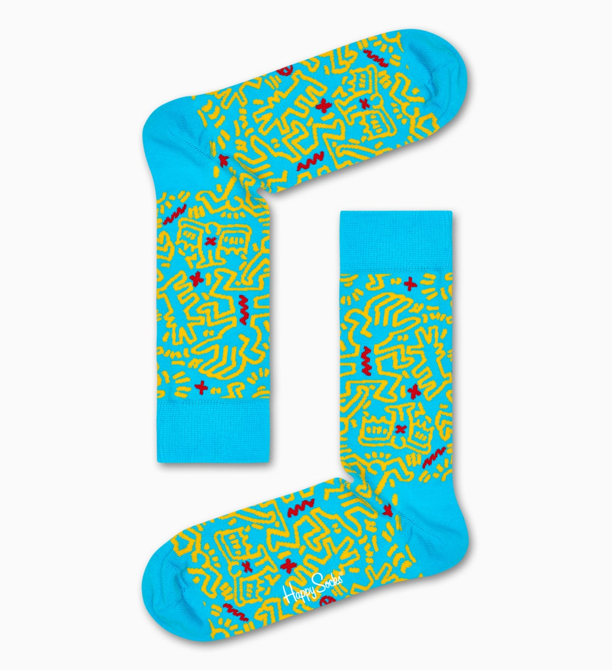Keith Haring All Over Sock