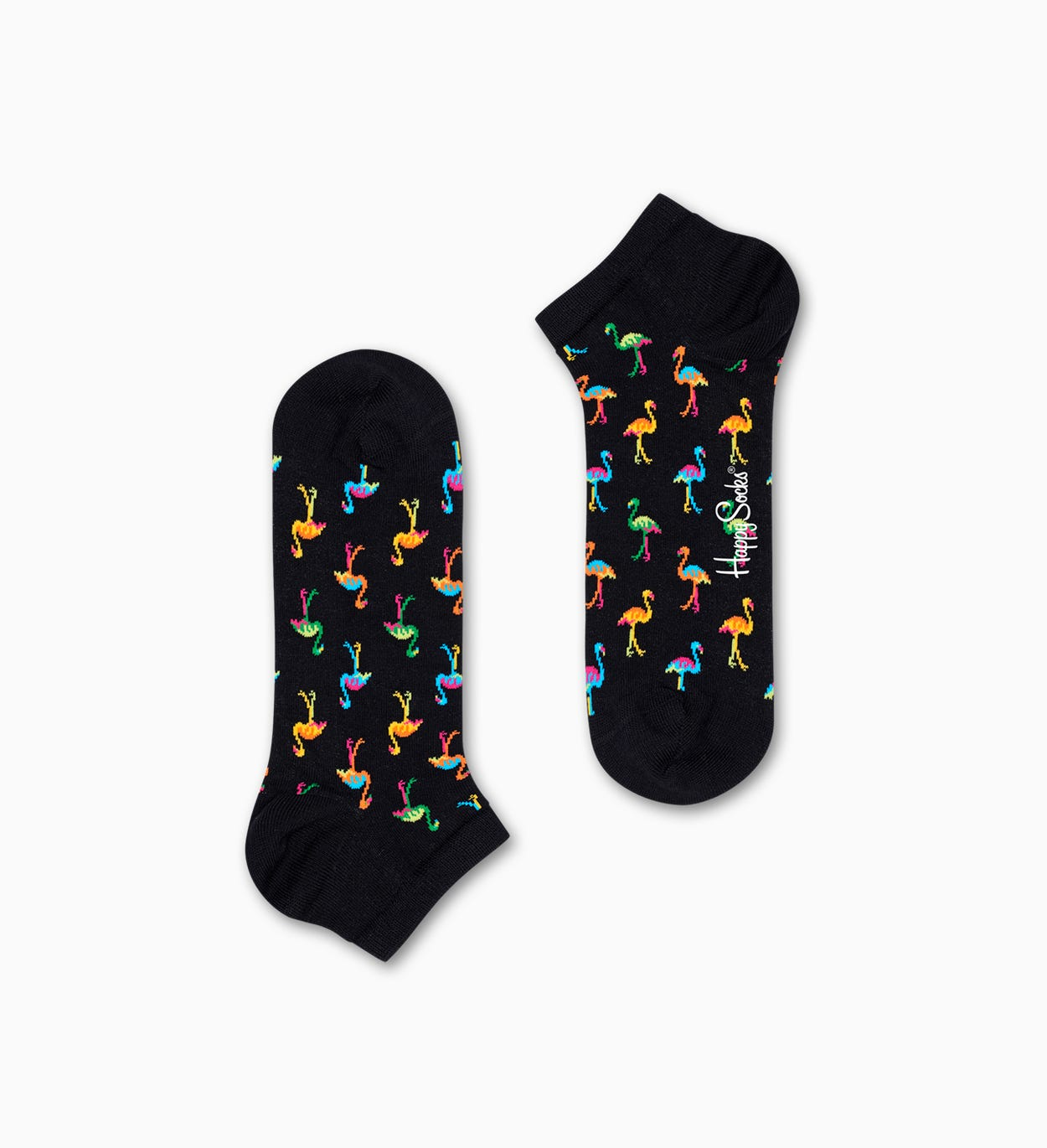 Flamingo Sneakersocken, Schwarz | Happy Socks