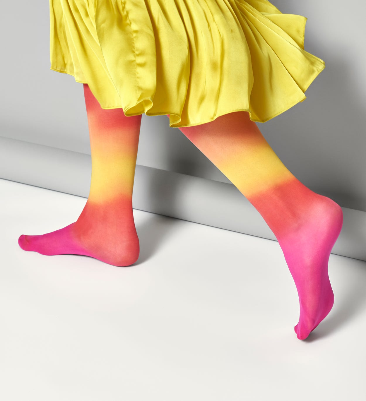 Women's Knee High Socks: Mia - Red & Yellow | Hysteria