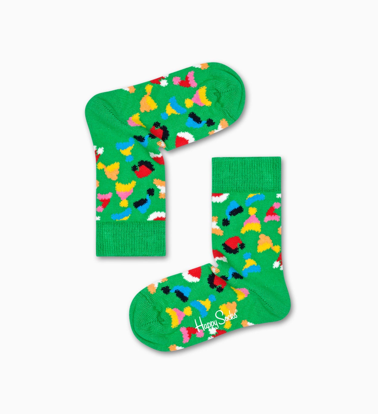 Kinder-   Babysocken: Santas Hat, Grün | Happy Socks