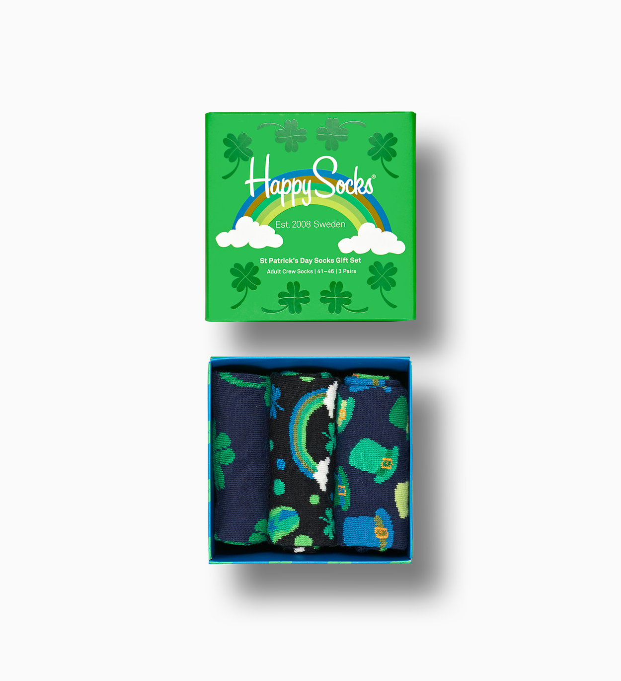 St. Patrick's Day Gift Box, lucky clovers | Happy Socks
