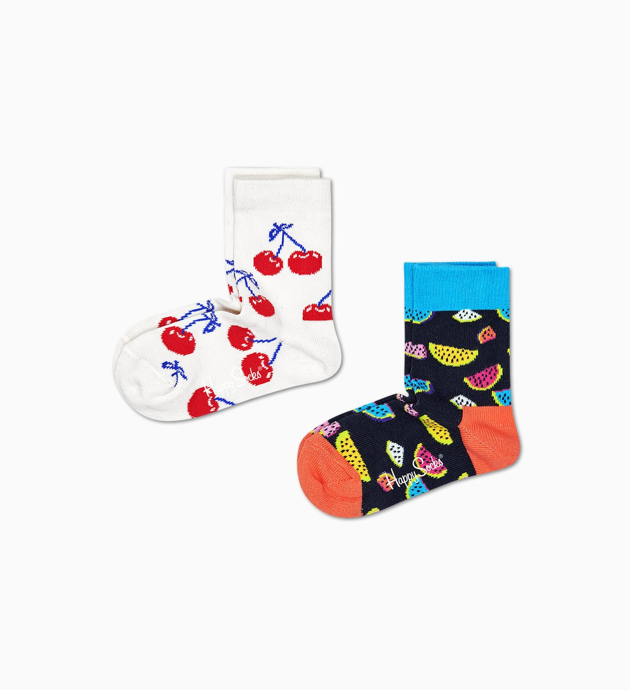2-Pack Fruit Socks, Black - Kids| Happy Socks