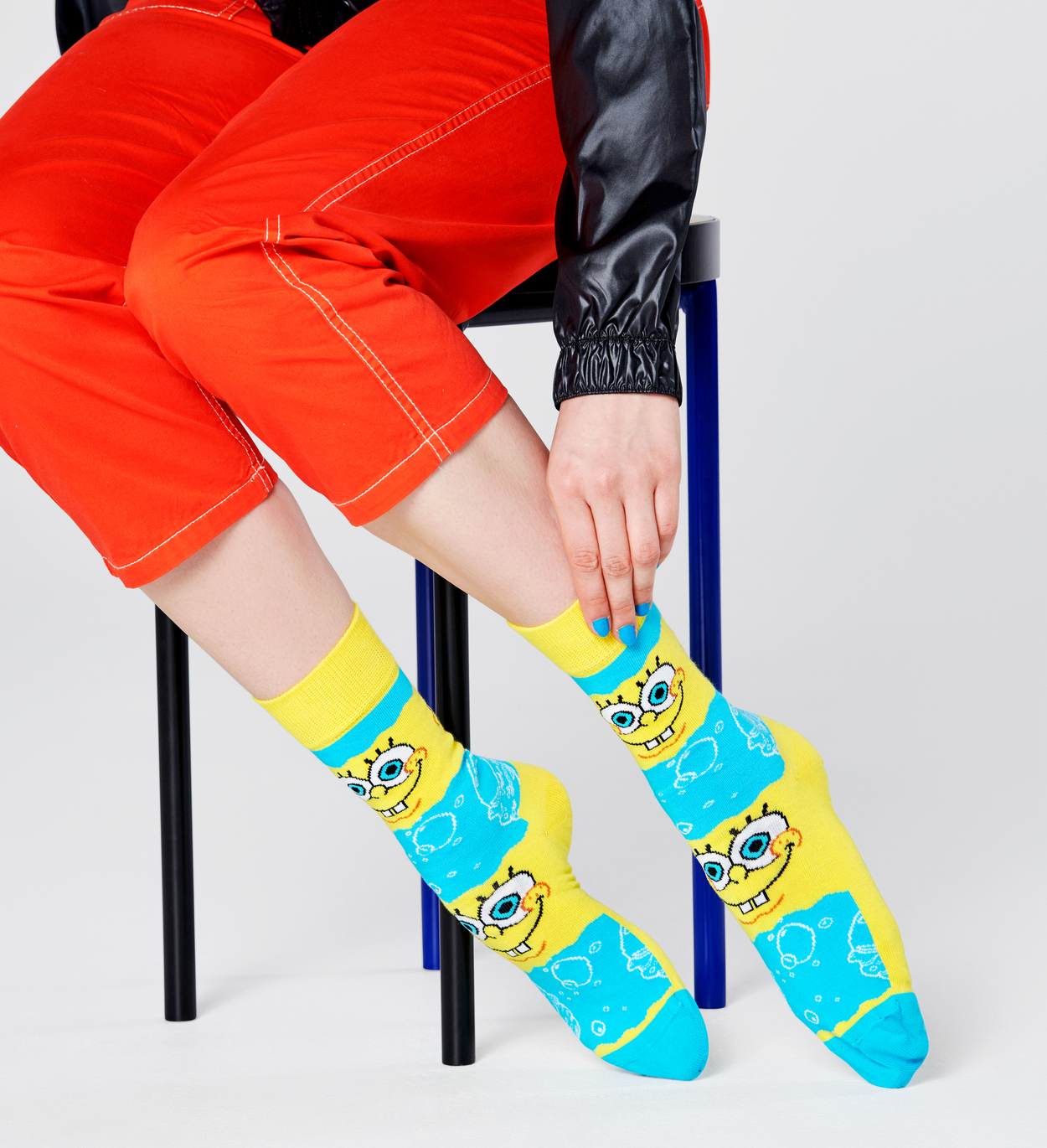 Happy Socks x Sponge Bob: Say Cheese Burger Socks