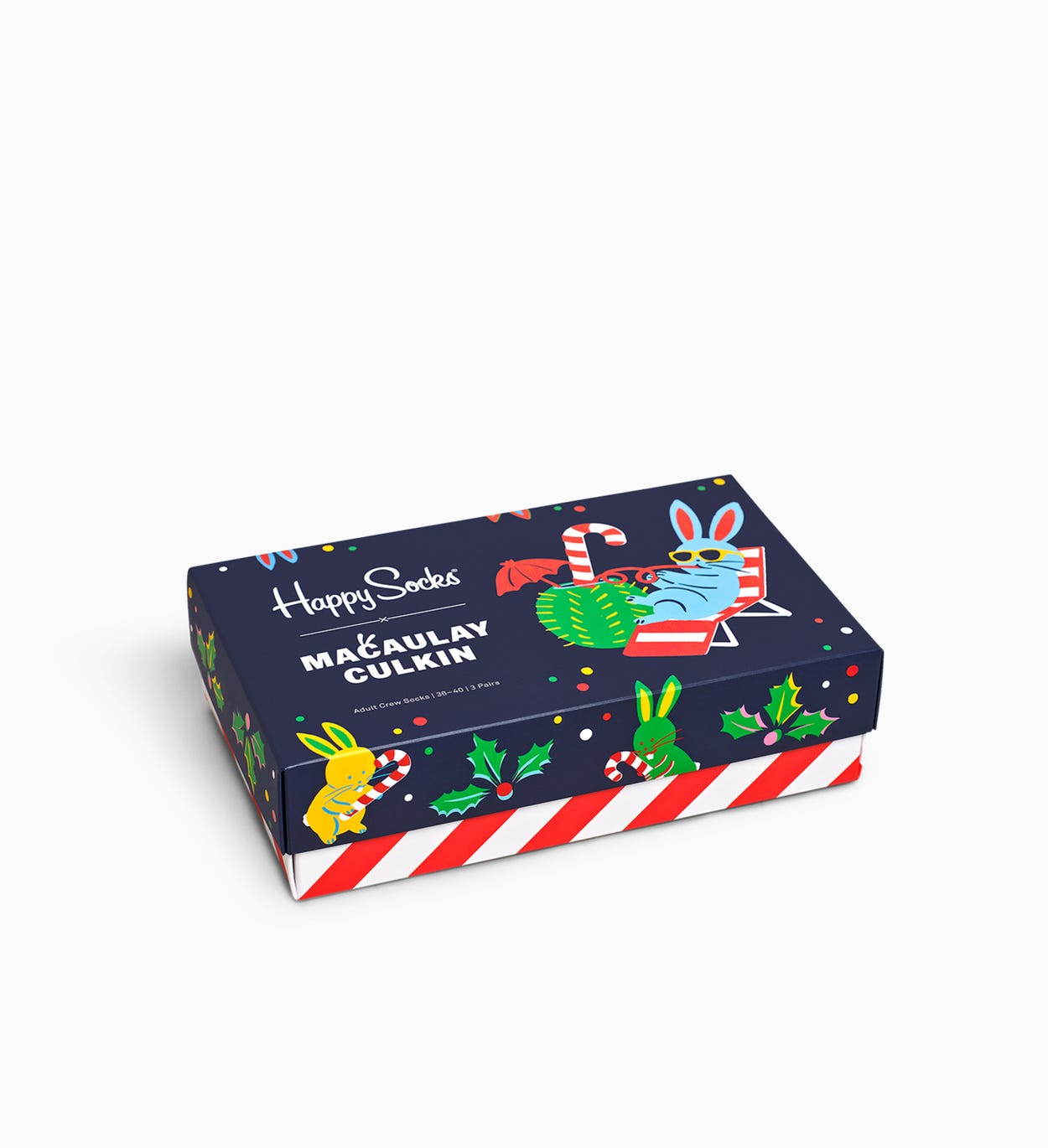 Black Macaulay Culkin Gift Box | Happy Socks
