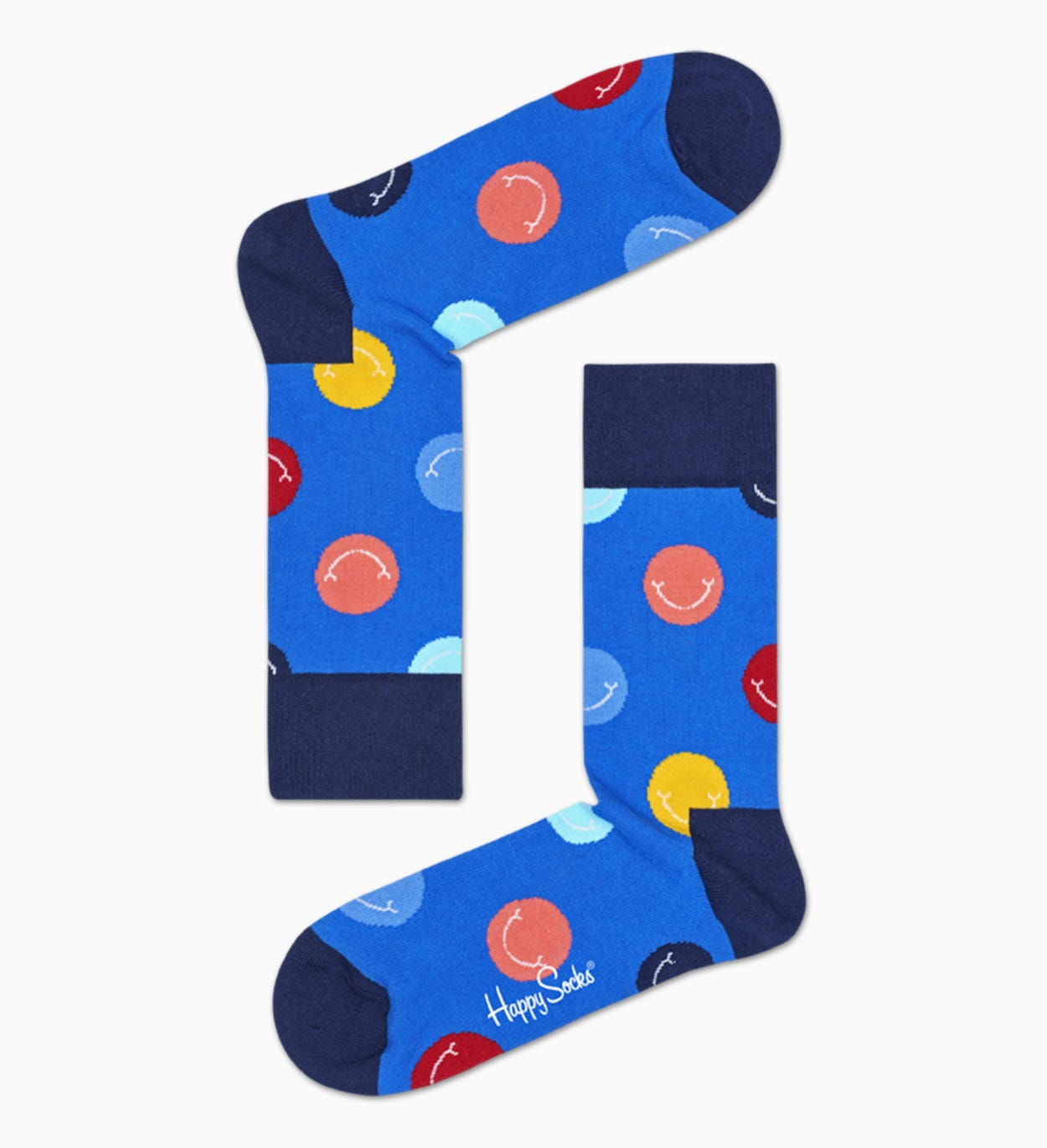 Blaue  Socken: Smile | Happy Socks
