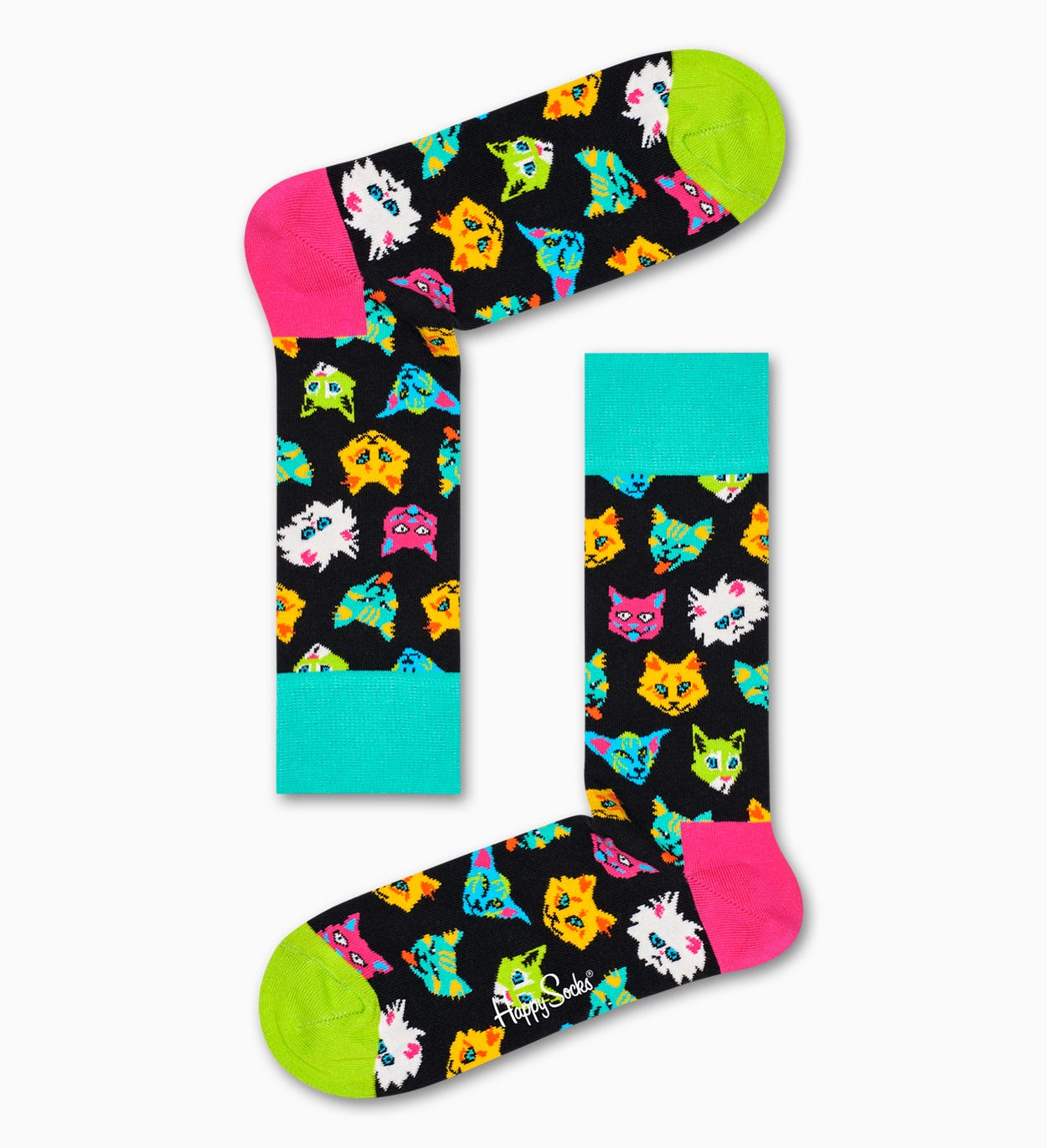 Cat Gift Box, Turquoise | Happy Socks