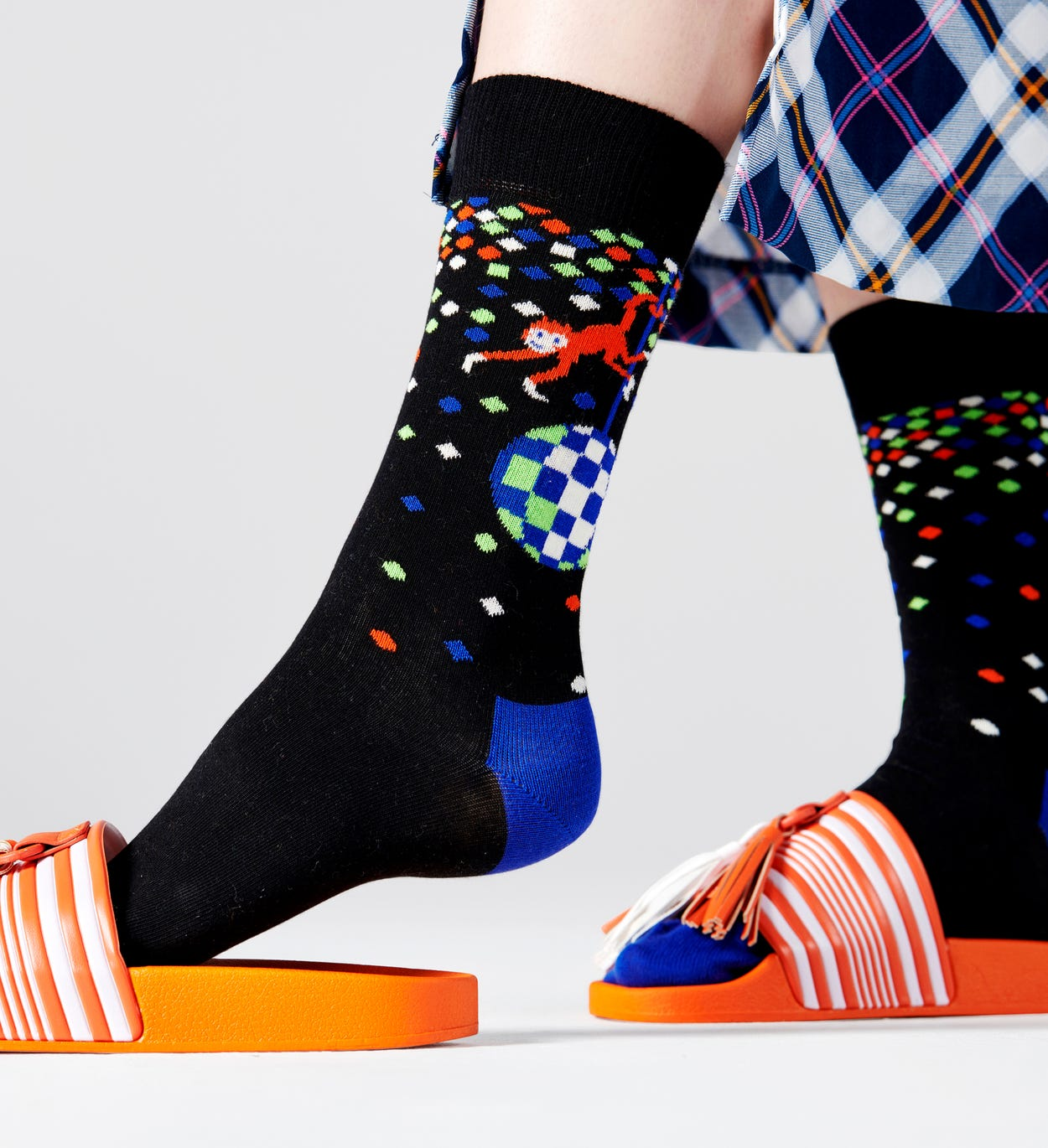 Disco Monkey Socks, Black | Happy Socks