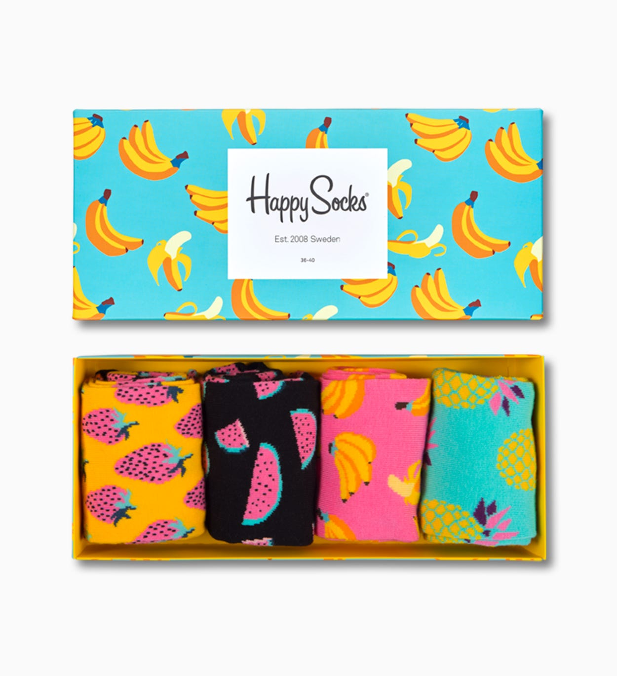 Socks Gift Box Fruits 4-PACK: Fruits | Happy Socks