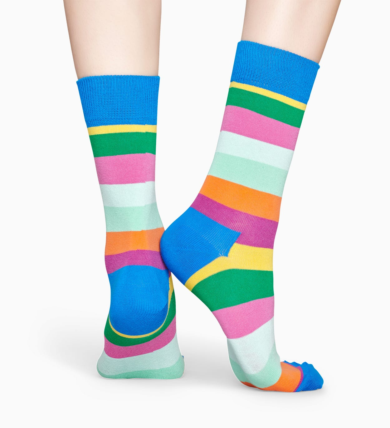블루 양말: Stripe | Happy Socks