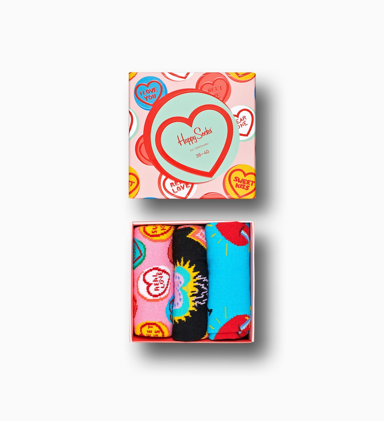 I Love You Geschenkbox, Pink | Happy Socks