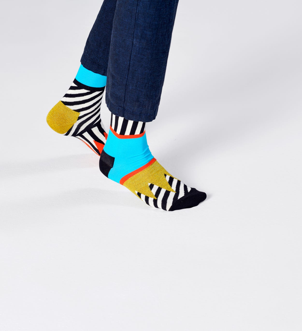 Chaussettes Mix And Match, Noires | Happy Socks