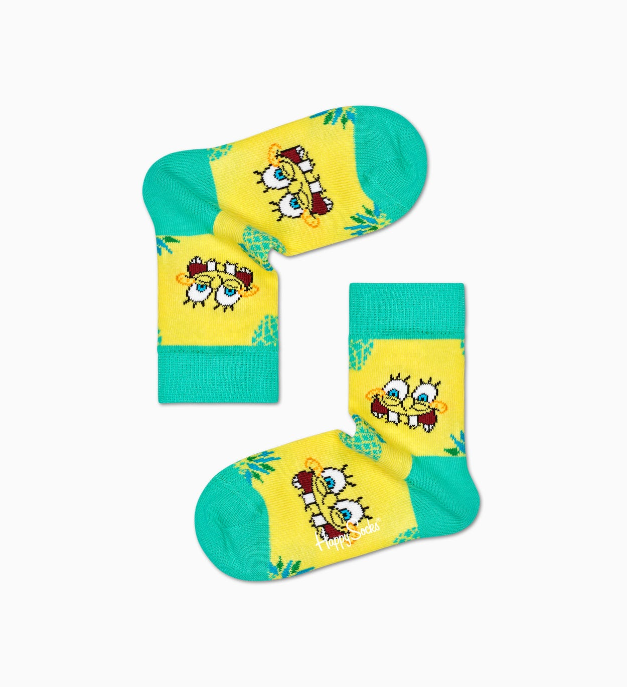Happy Socks x Sponge Bob: Fineapple Surprise Socken für Kinder