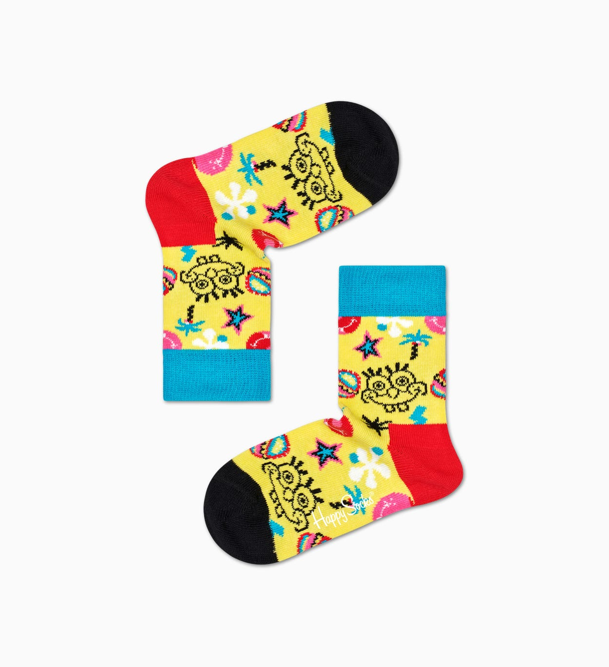 Happy Socks x Sponge Bob: Smile Storm Socken für Kinder