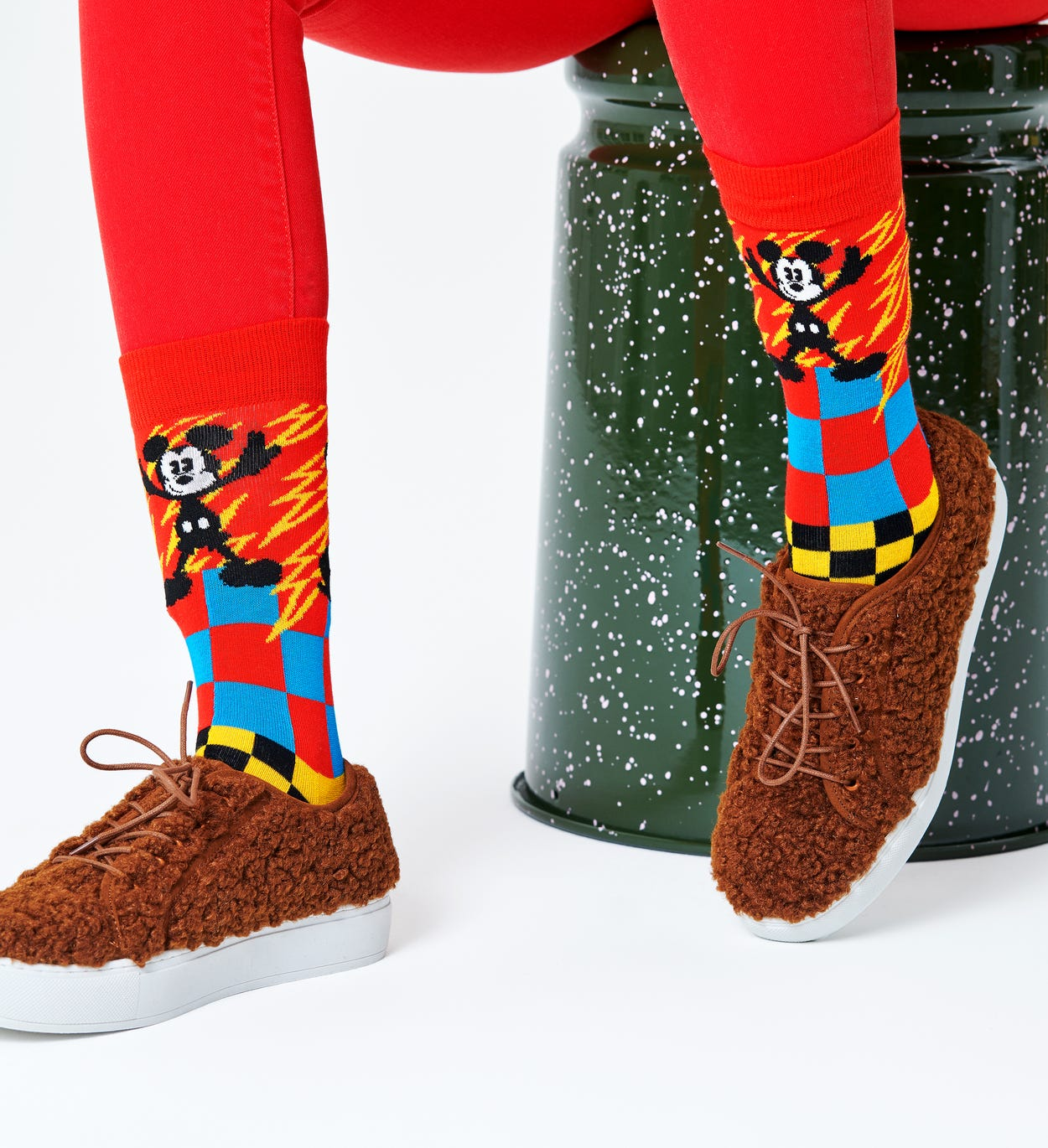 Disney x Happy Socks: Mickey-Time Sokken
