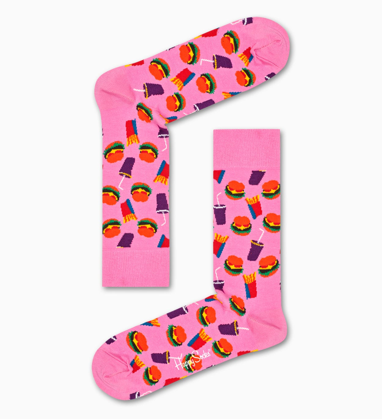 Chaussettes Roses à motif: Hamburger | Happy Socks