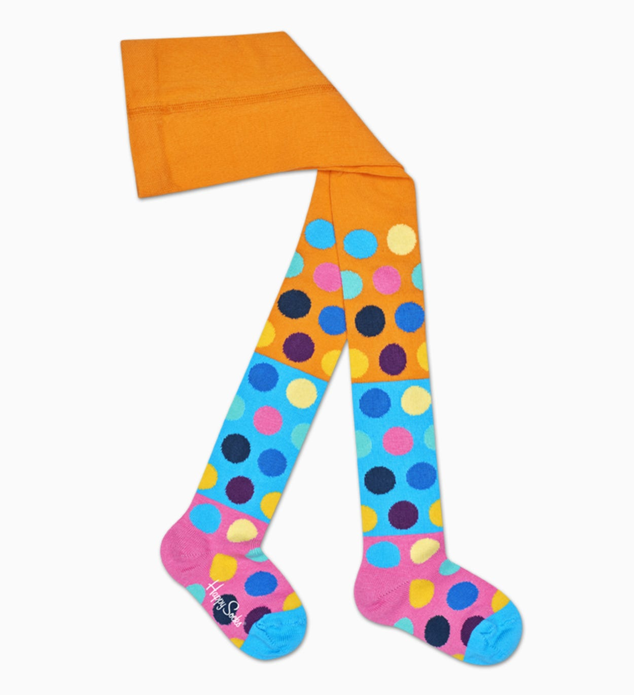 Orange Baby Strumpfhosen: Big Dot Block | Happy Socks