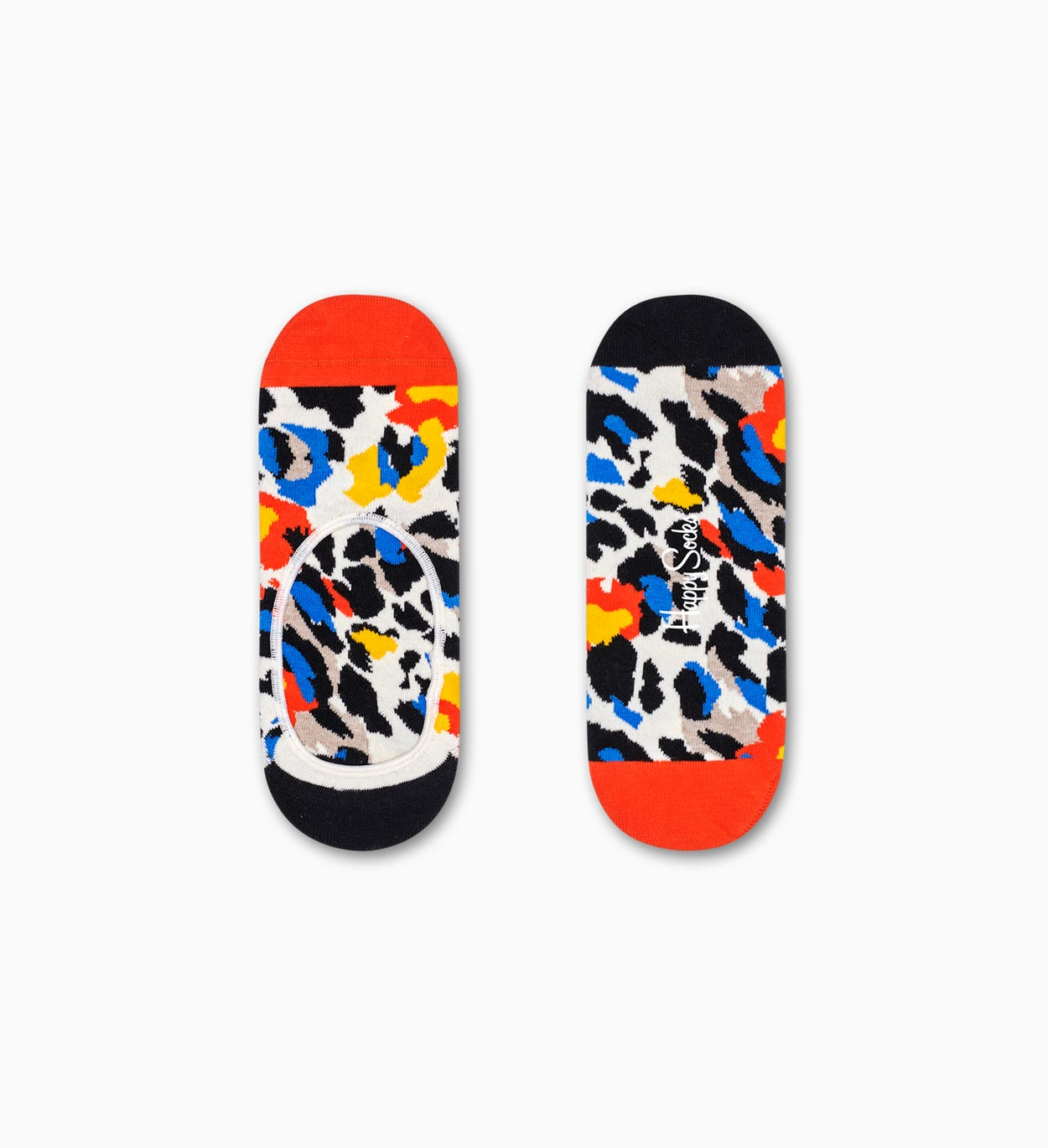 Leopard Füßlinge, Orange | Happy Socks