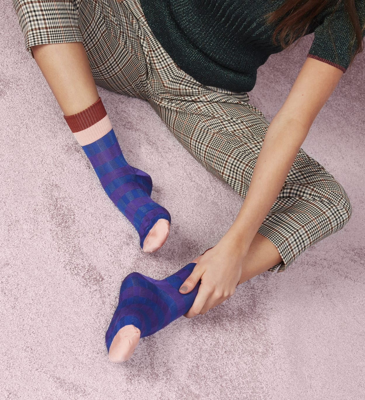 Calzini corti Blu: Helen | Hysteria by Happy Socks