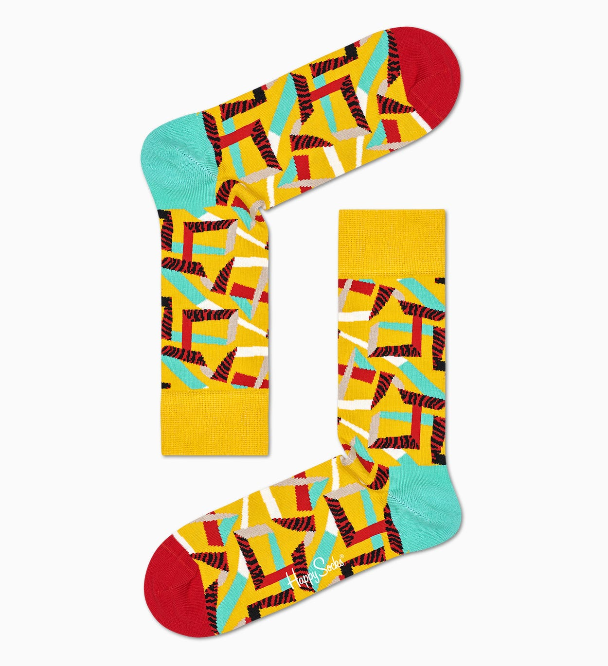 Confezione regalo Abstract Animal, Giallo | Happy Socks