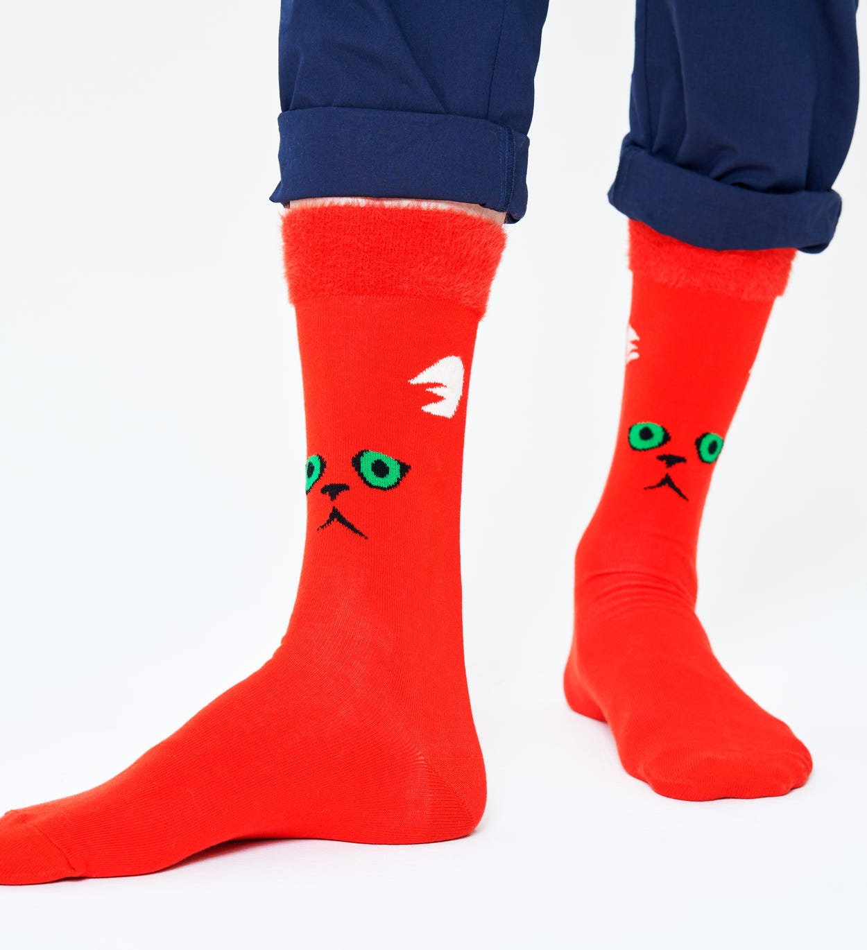 Grüne Socken: Hairy Animal | Happy Socks