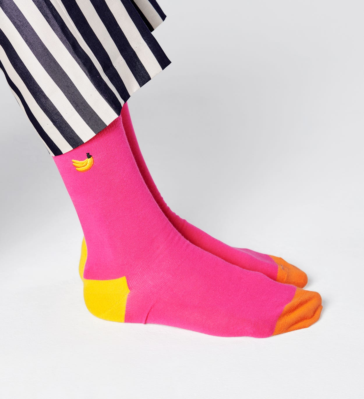 Embroidery Banana Socks, Pink | Happy Socks