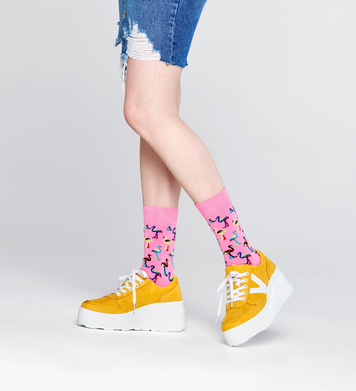 Flamingo Socks, Pink | Happy Socks