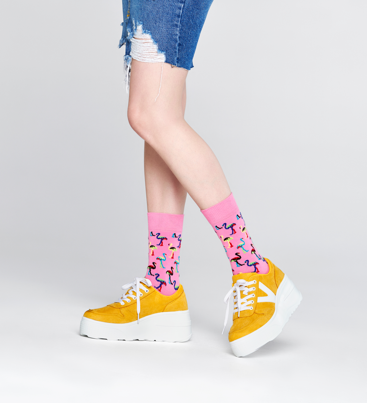 Flamingo Socken, Pink | Happy Socks