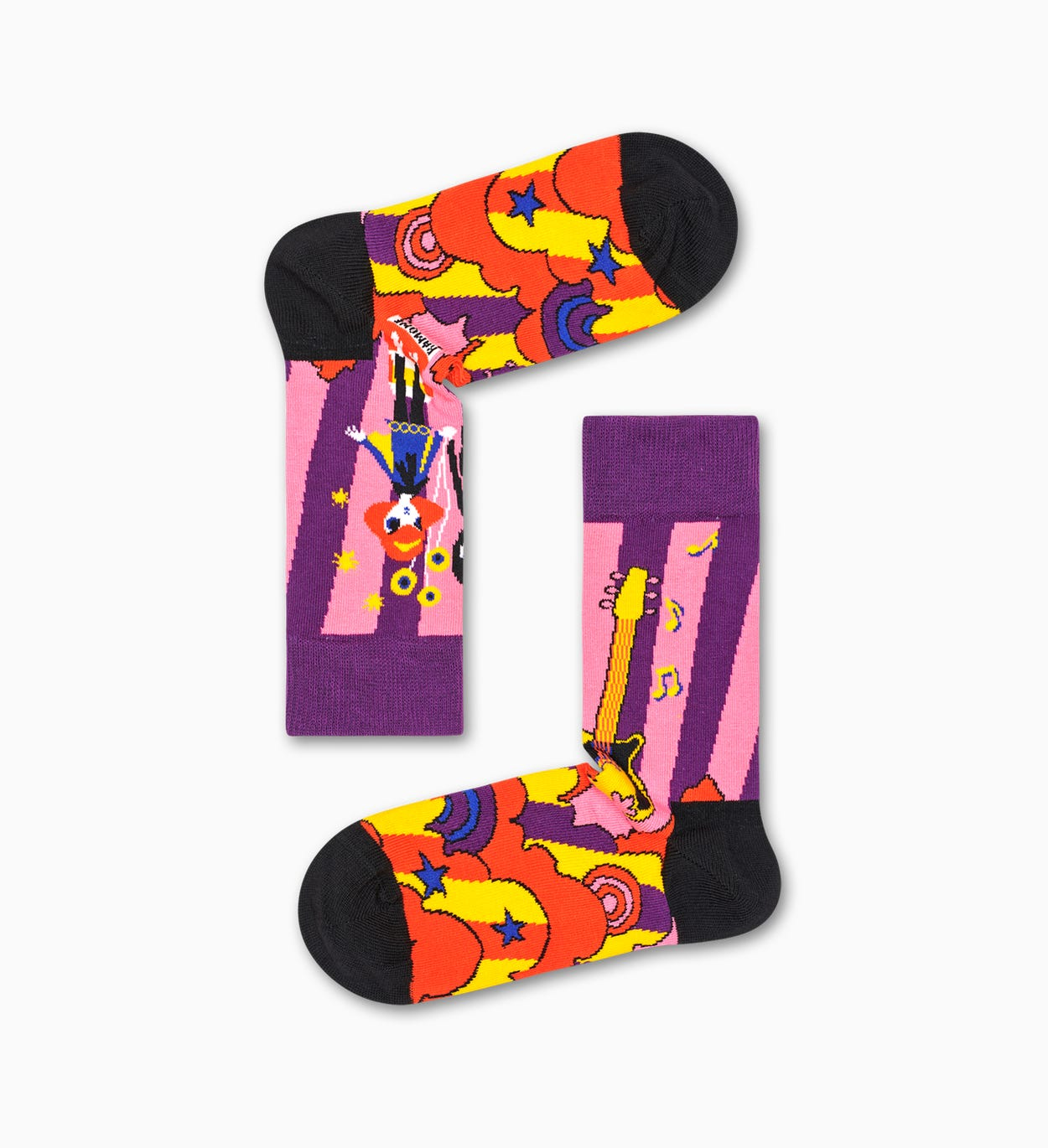 Linda And Johnny Purple Guitar Sock
