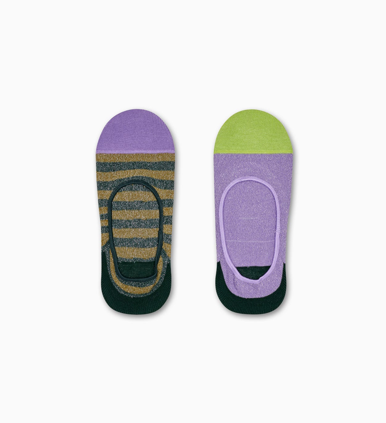2-Pack Claudia Invisible Socks, Purple - Hysteria | Happy Socks