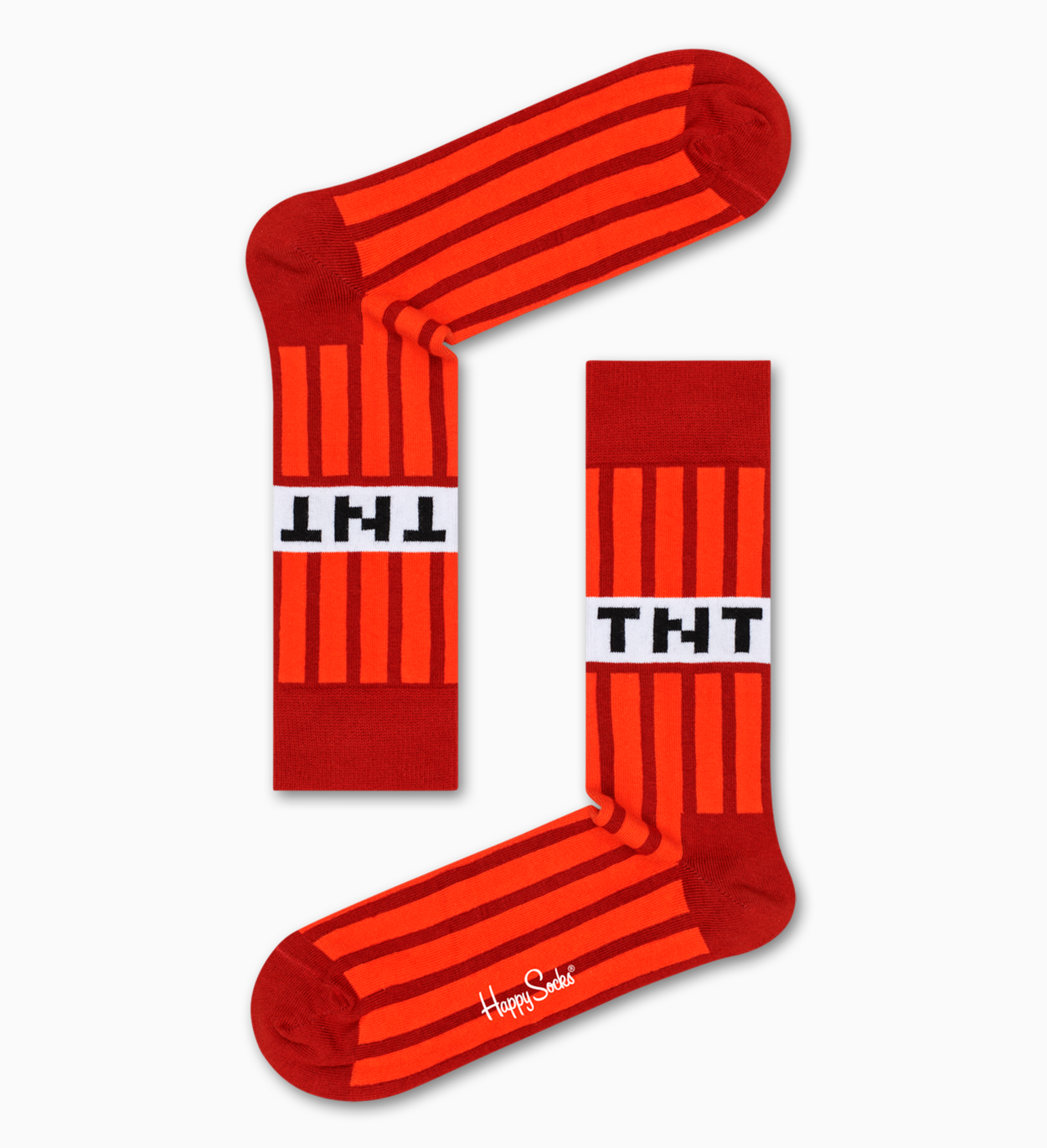 Happy Socks x Minecraft: TNT Sock - Red