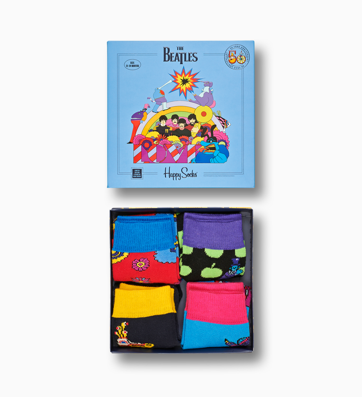 The Beatles Socks Box Set for kids | Happy Socks