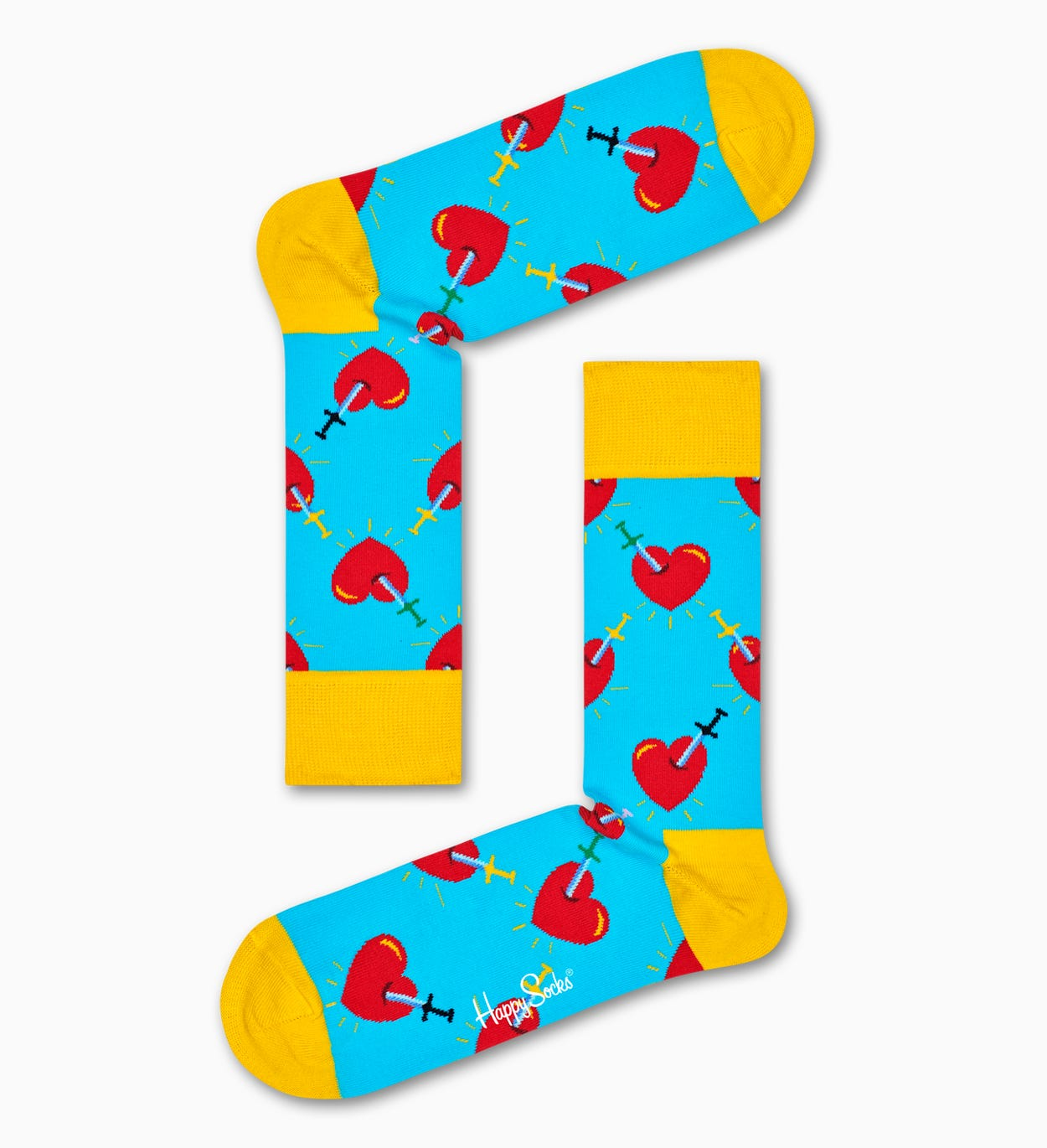 Broken Heart Socken, Blau | Happy Socks