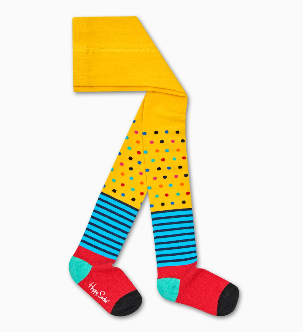 Yellow kids And baby socks: Stripes And Dots | Happy Socks