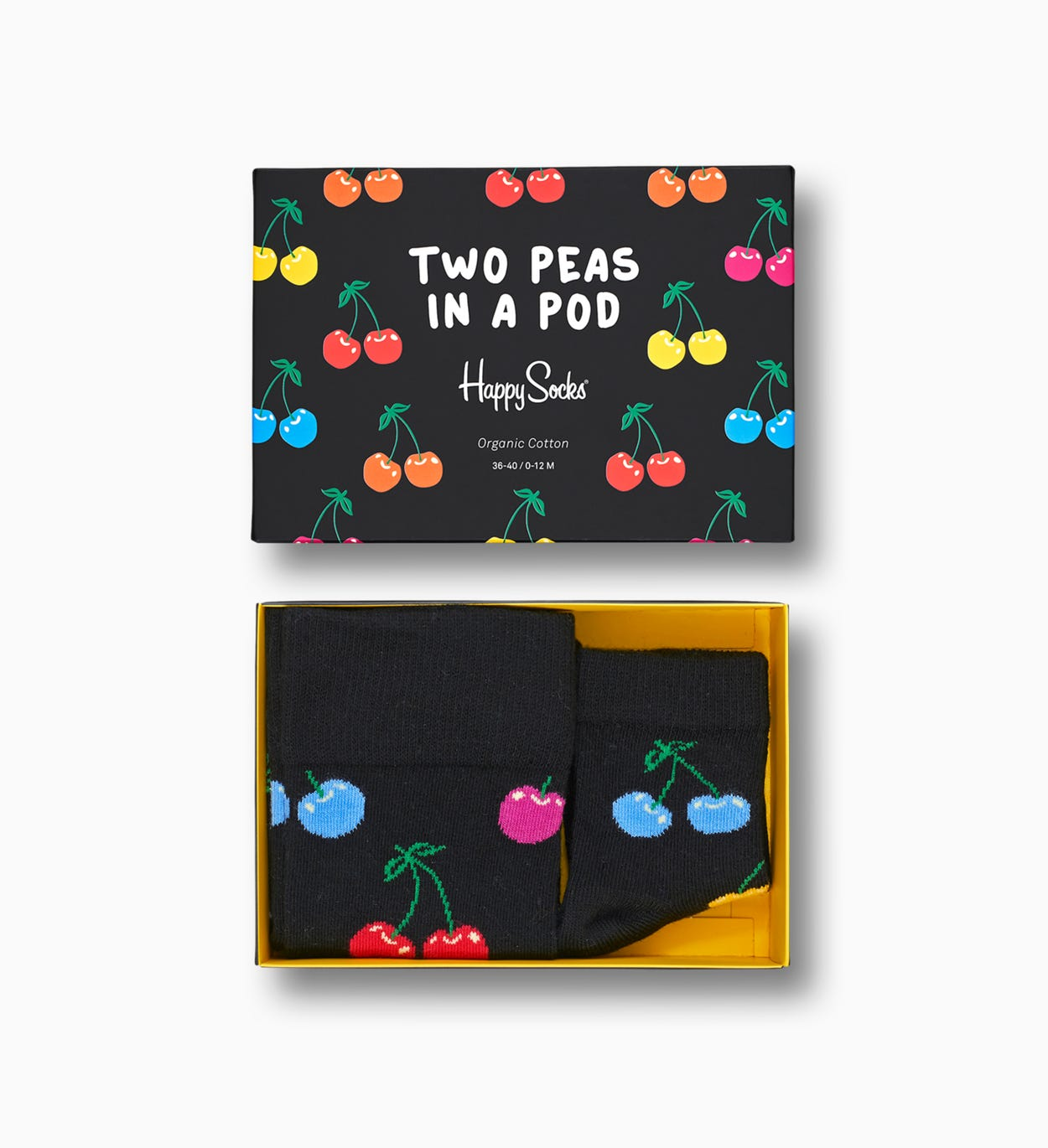 Baby-adult gift box: Cherry - 2 Peas In A Pod | Happy Socks