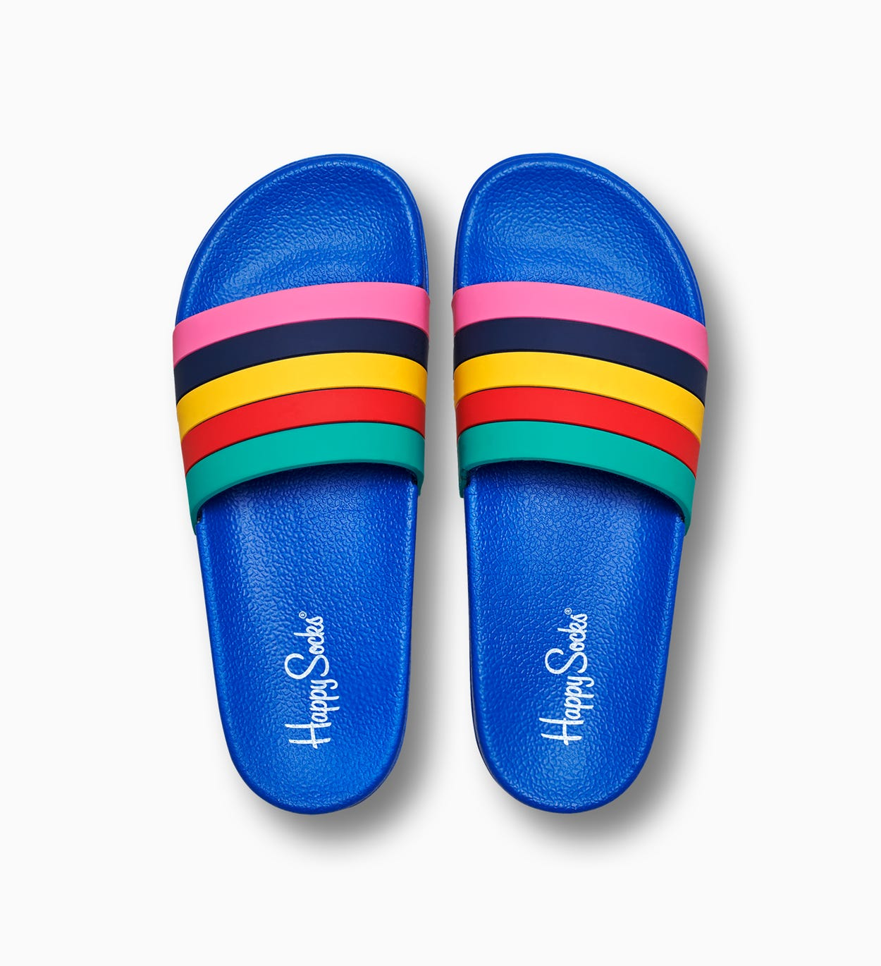 Slippers Stripes, blauw | Happy Socks