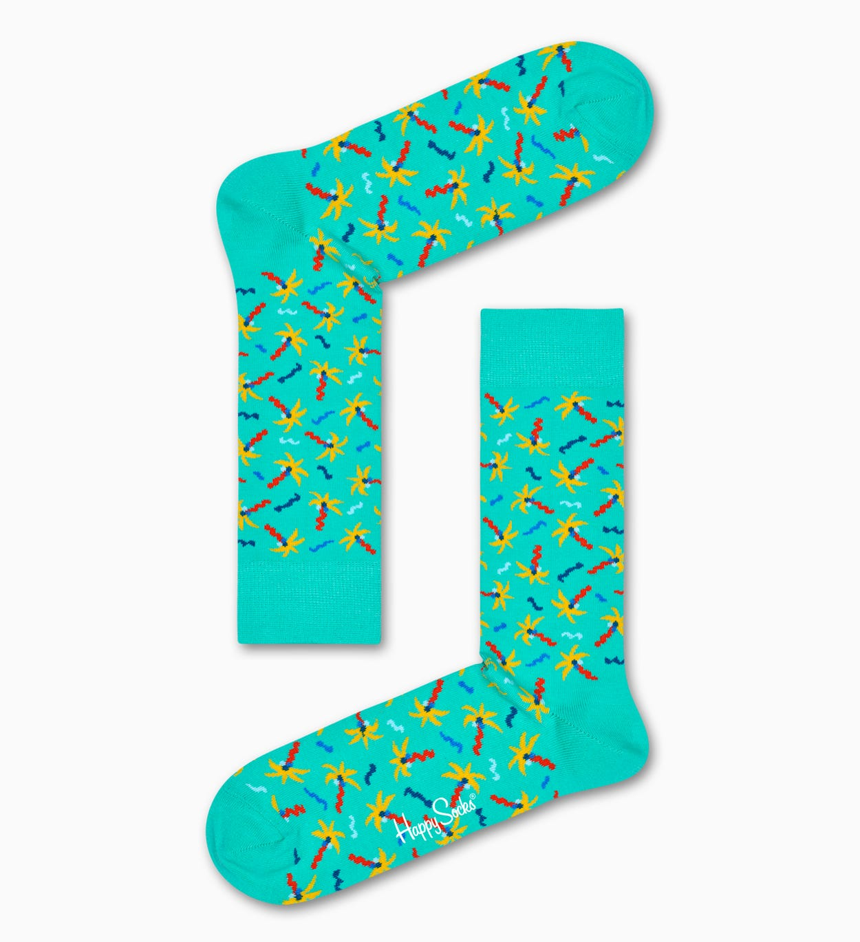 Confetti Palm Socks, Turquoise | Happy Socks