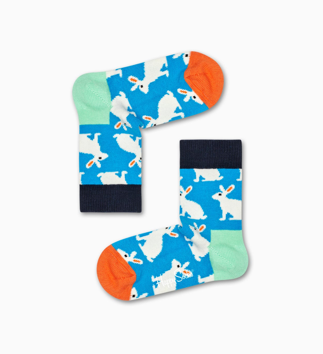 Blaue Kinder  amp; Baby Socken: Bunny | Happy Socks