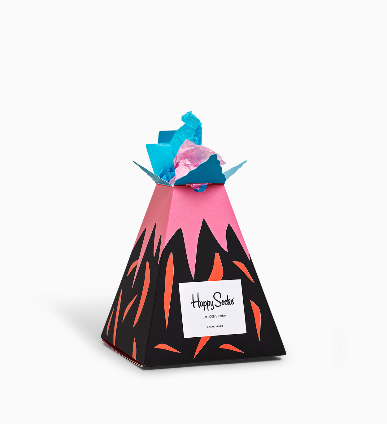 Kids Volcano Gift Box, Red | Happy Socks