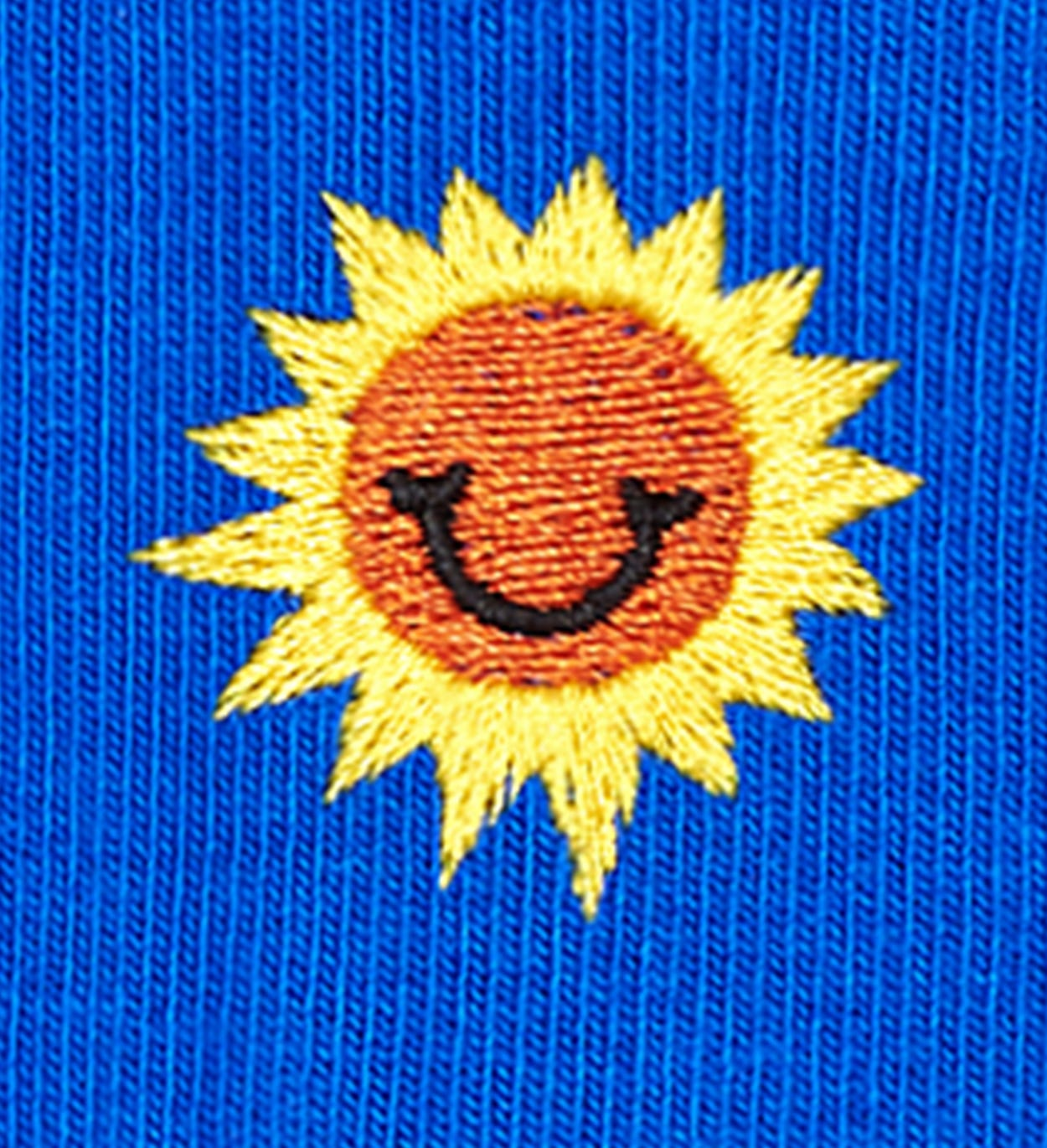 Calcetines Embroidery Sunny Smile, Azul | Happy Socks