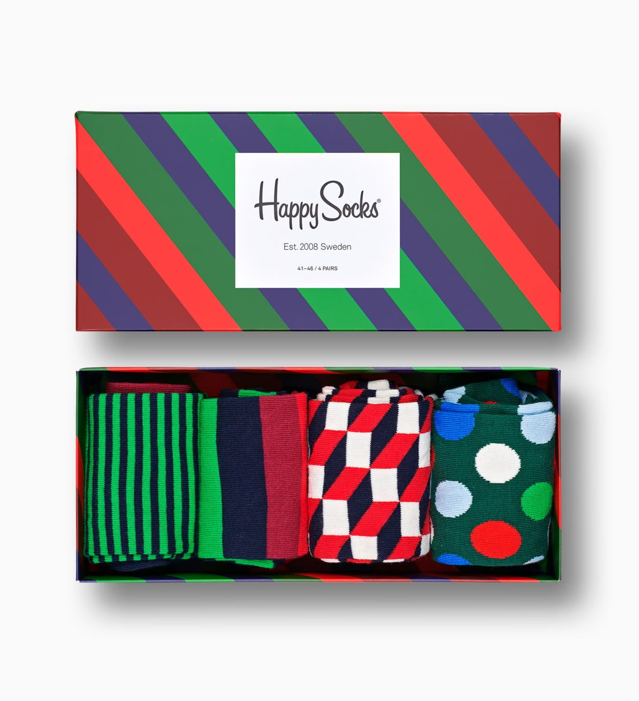 Stripe Gift Box 4-Pack